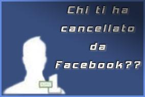 cancellato facebook