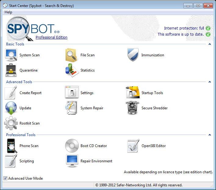 spybot antispyware