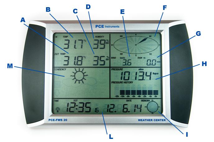 Stazione meteorologica PCE-FWS 20