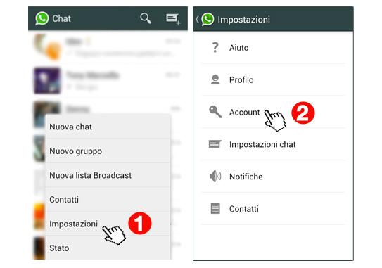 whatsapp messenger impostazioni